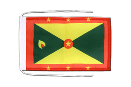 Grenada - Flag with ropes 8x12""