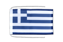 Greece - Flag with ropes 8x12""