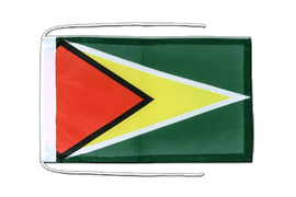 Guyana - Flag with ropes 8x12""