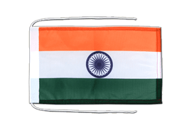India - Flag with ropes 8x12""