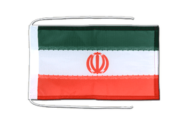 Iran - Flag with ropes 8x12""