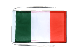 Flag with ropes Italy - 8x12""