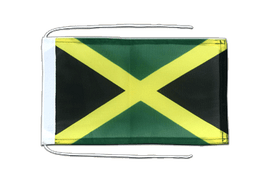 Jamaica - Flag with ropes 8x12""