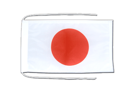 Japan - Flag with ropes 8x12""