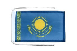 Kazakhstan - Flag with ropes 8x12""