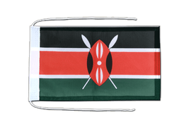 Kenya - Flag with ropes 8x12""