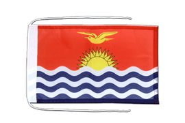Kiribati - Flag with ropes 8x12""