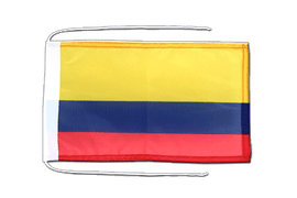 Colombia - Flag with ropes 8x12""