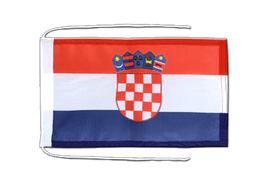 Croatia - Flag with ropes 8x12""