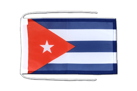 Cuba - Flag with ropes 8x12""