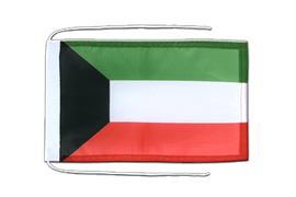 Kuwait - Flag with ropes 8x12""