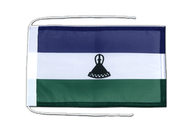 Lesotho new - Flag with ropes 8x12""