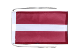 Latvia - Flag with ropes 8x12""
