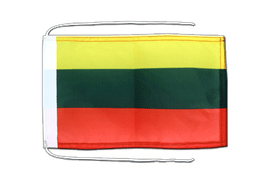 Lithuania - Flag with ropes 8x12""