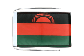 Malawi new - Flag with ropes 8x12""