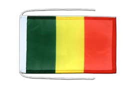 Mali - Flag with ropes 8x12""