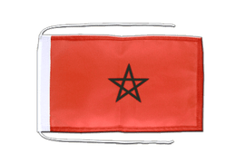 Morocco - Flag with ropes 8x12""