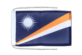Marshall Islands - Flag with ropes 8x12""