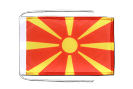 Macedonia - Flag with ropes 8x12""