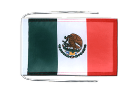 Mexico - Flag with ropes 8x12""