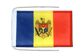 Moldova - Flag with ropes 8x12""