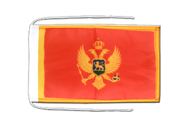 Montenegro - Flag with ropes 8x12""