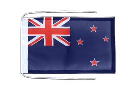 Flag with ropes New Zealand - 8x12""