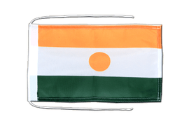 Niger - Flag with ropes 8x12""