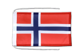 Norway - Flag with ropes 8x12""