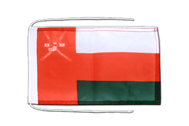 Oman - Flag with ropes 8x12""