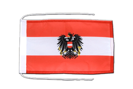 Austria eagle - Flag with ropes 8x12""