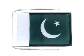 Pakistan - Flag with ropes 8x12""