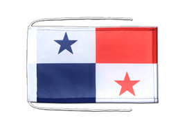 Panama - Flag with ropes 8x12""