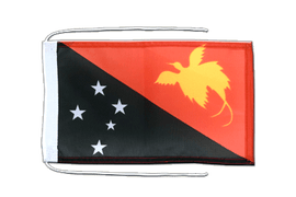 Flag with ropes Papua New Guinea - 8x12""