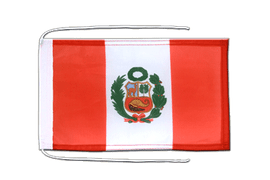 Peru - Flag with ropes 8x12""