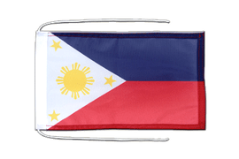 Philippines - Flag with ropes 8x12""