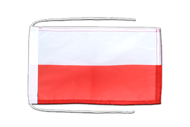 Poland - Flag with ropes 8x12""
