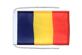 Flag with ropes Rumania - 8x12""