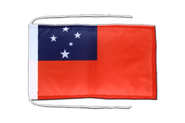 Samoa - Flag with ropes 8x12""