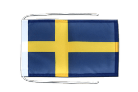Sweden - Flag with ropes 8x12""