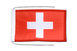 Flag with ropes Switzerland - 8x12""