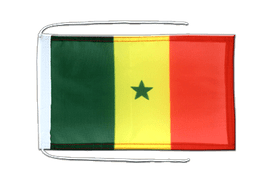 Senegal - Flag with ropes 8x12""