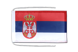 Serbia with crest - Flag with ropes 8x12""