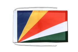Seychelles - Flag with ropes 8x12""