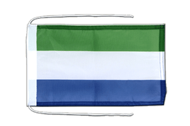 Sierra Leone - Flag with ropes 8x12""