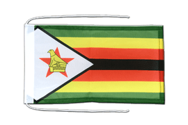 Zimbabwe - Flag with ropes 8x12""
