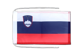 Slovenia - Flag with ropes 8x12""