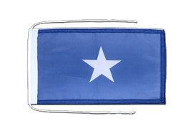 Somalia - Flag with ropes 8x12""