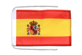 Spain with crest - Flag with ropes 8x12""