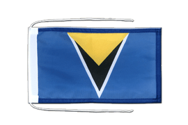 Saint Lucia - Flag with ropes 8x12""